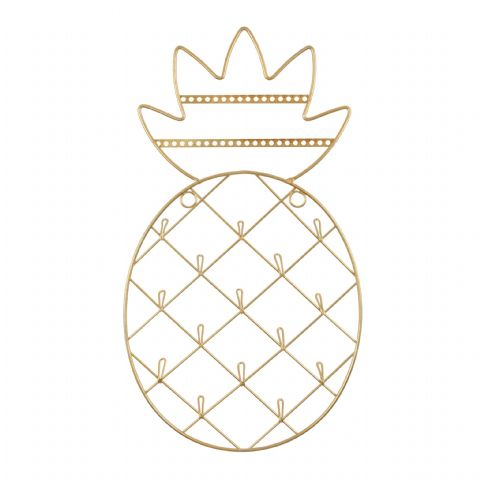 GOLD PINEAPPLE WALL JEWELLERY HOLDER